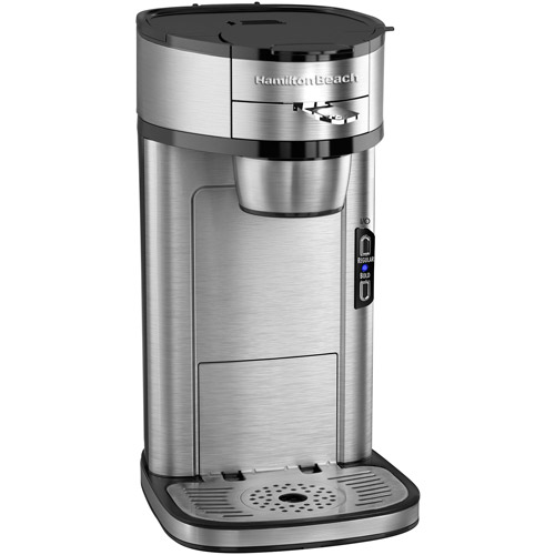 Hamilton Beach The Scoop Single-Serve Coffeemaker, 49981, Stainless Steel