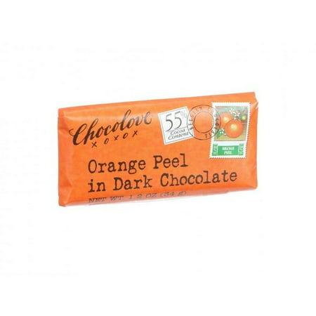 Prmium Mini (Chocolove Xoxox Premium Chocolate Bar - Dark Chocolate - Orange Peel - Mini - 1.2 Oz Bars - Pack of 12 )