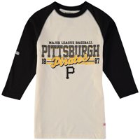 Pittsburgh Pirates Stitches Youth Novelty Baseball Raglan Three-Quarter Sleeve T-Shirt - Tan/Black