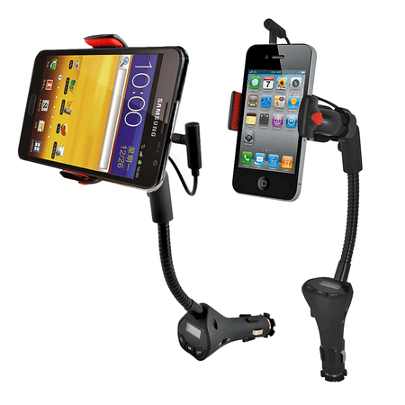 Alpatronix MX100 Car Mount Charging Dock Station with FM Transmitter & USB -