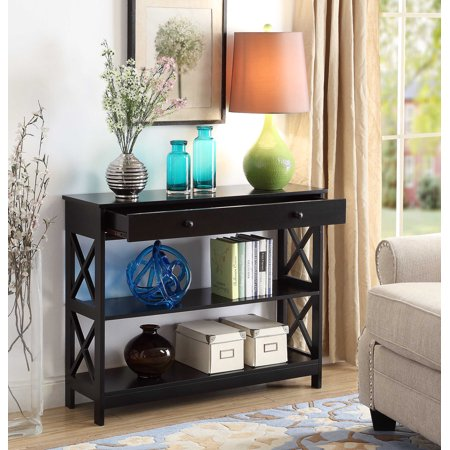 Blue Console - Convenience Concepts Oxford 1-Drawer Console Table, Multiple Finishes