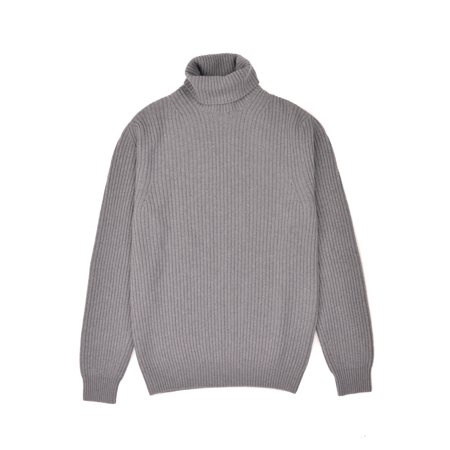 Tom Ford Mens Cashmere Wool Grey Knit Turtleneck Sweater
