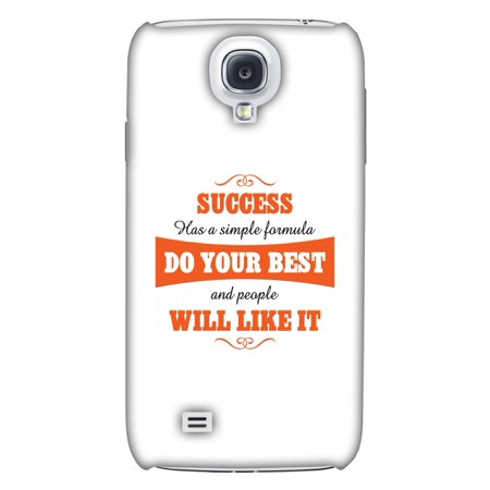 Samsung GALAXY S4 Case, Premium Handcrafted Designer Hard Shell Snap On Case Printed Back Cover with Screen Cleaning Kit for Samsung GALAXY S4 GT-I9500, Slim, Protective - Success Do Your