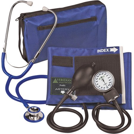 ProKit Adult Combo Aneroid Sphygmomanometer with Dual-Head Stethoscope, Royal Blue, 1ct - Littmann Stethoscope Accessories