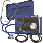 ProKit Adult Combo Aneroid Sphygmomanometer with Dual-Head Stethoscope, Adult, Teal