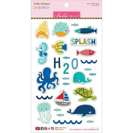 Secrets Of The Sea  -  Boy Puffy Stickers - Icons