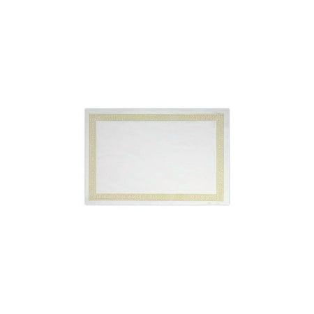 Lapaco 304-005 9.5 x 13.5 Greek Key With Gold Trim Placemat - 1000 /
