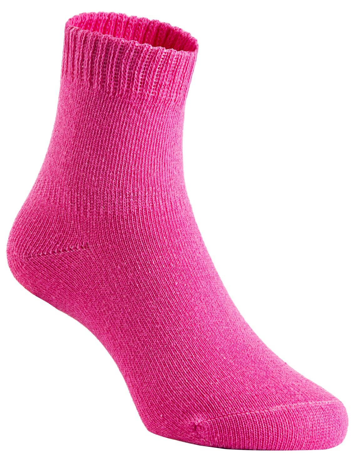 Lovely Annie Girls Children 4 Pairs Pack Non Slip Pure Cotton Socks 3Y-5Y(Rose)