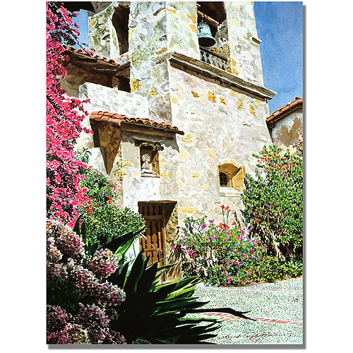 "Trademark Art ""Mission Carmel Bell Tower"" Canvas Wall Art by David Lloyd Glover"