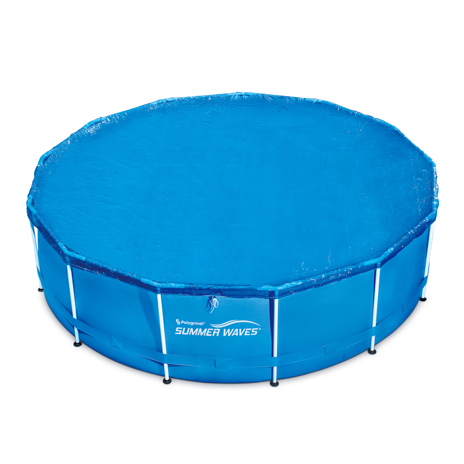 Summer Waves 10'-15' Adjustable Round Solar Pool Cover for Quick Set or Metal Frame Above Ground Swimming Pools