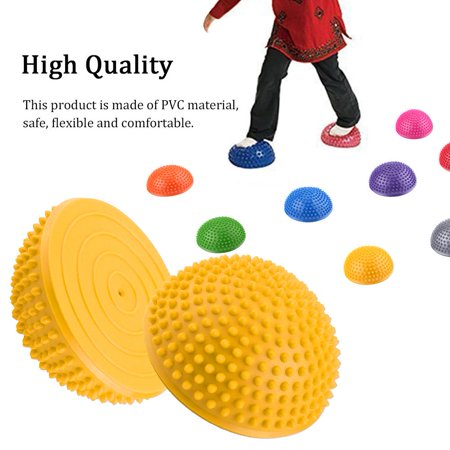 Lv.Life PVC Inflatable Half Yoga Balls Massage Point Fitball Exercises Trainer Fitness Balance Ball, Fitness Balance Ball, PVC Yoga