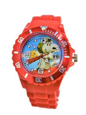 Peanuts Snoopy & Woodstock Silicone Modern Quartz Analog Wrist Watch For Women Men Children.