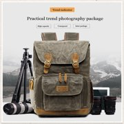 Tuscom Camera Bag Backpack Vintage Canvas Waterproof Camera Case for DSLR Mirrorless SLR Cameras Lens Tripod Accessories Photography Men Women
