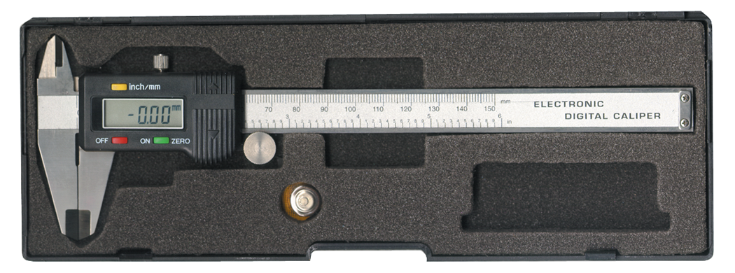 "Caliper 6"" Digital SS W Case, 4 Button by Mountain"