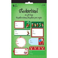 Stickerland Pad - Stickerland Holiday Gift Tags - Traditional4 pages st5212