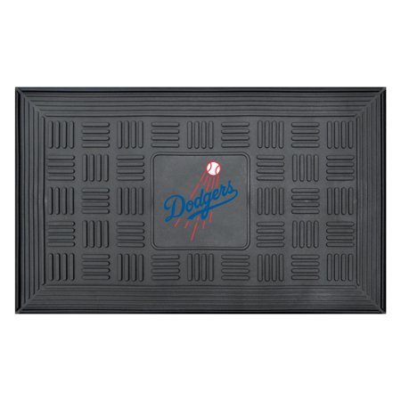 "Los Angeles Dodgers 19"" x 30"" Vinyl Medallion Door Mat - Black - No Size"
