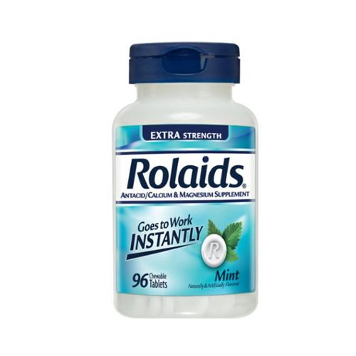 Rolaids Extra Strength Tablets Mint, 96 ea (Pack of 3)