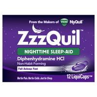 Vicks ZzzQuil Nighttime Sleep Aid LiquiCaps, 12 Ct