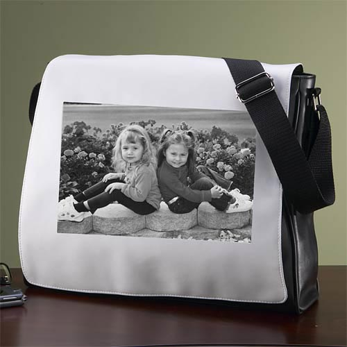 Personalized Photo Messenger Bag