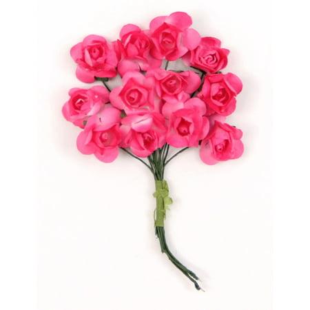 Hot Pink Mini Paper Rose Flower Bouquet