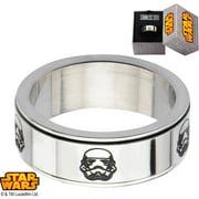 Men's Stainless Steel Stormtrooper Spinner Ring, Sizes 8-12