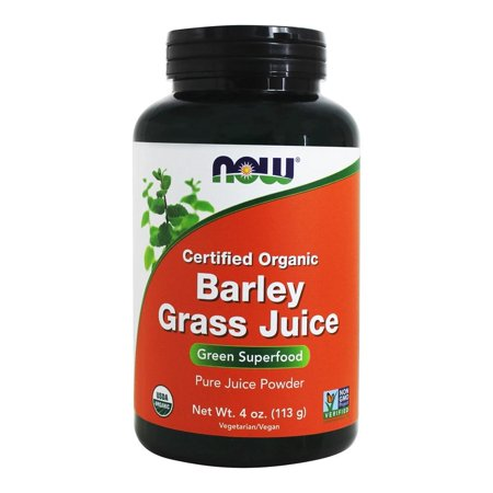 - NOW Foods - Barley Grass Juice Powder Certified Organic - 4 oz.
