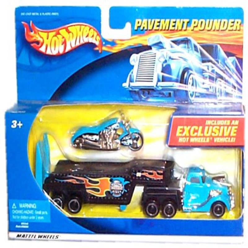 Hot Wheels Pavement Pounder Replica Transport Tractor/Tra...