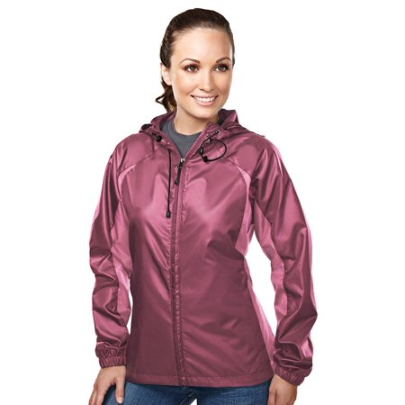 Tri-Mountain Women's Diamond Hooded Shell - Jessica Hooded Coat