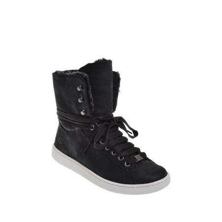 Ugg Starlyn Hi-Top Sneaker - Black (Uggs For Tweens)