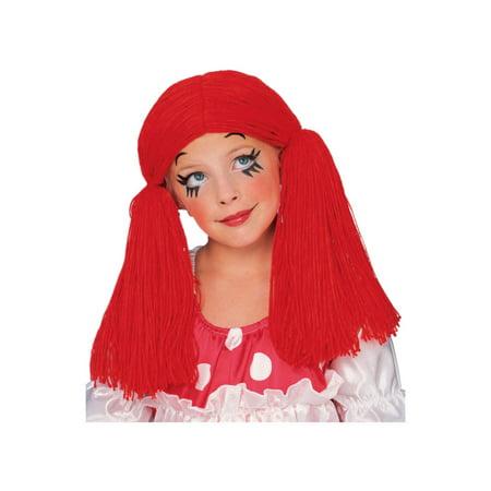 (Child Rag Doll Girl Wig Rubies 50854)