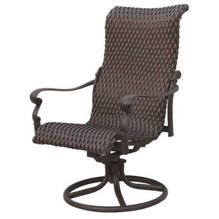 Darlee Victoria Rocker Patio Dining Chair In Espresso Set Of 2 Walmart Com