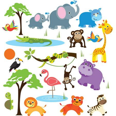 Safari Adventure Nursery/Kids Room Peel & Stick Wall Decals ()