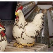 Decmode Polystone Rooster, Multi Color