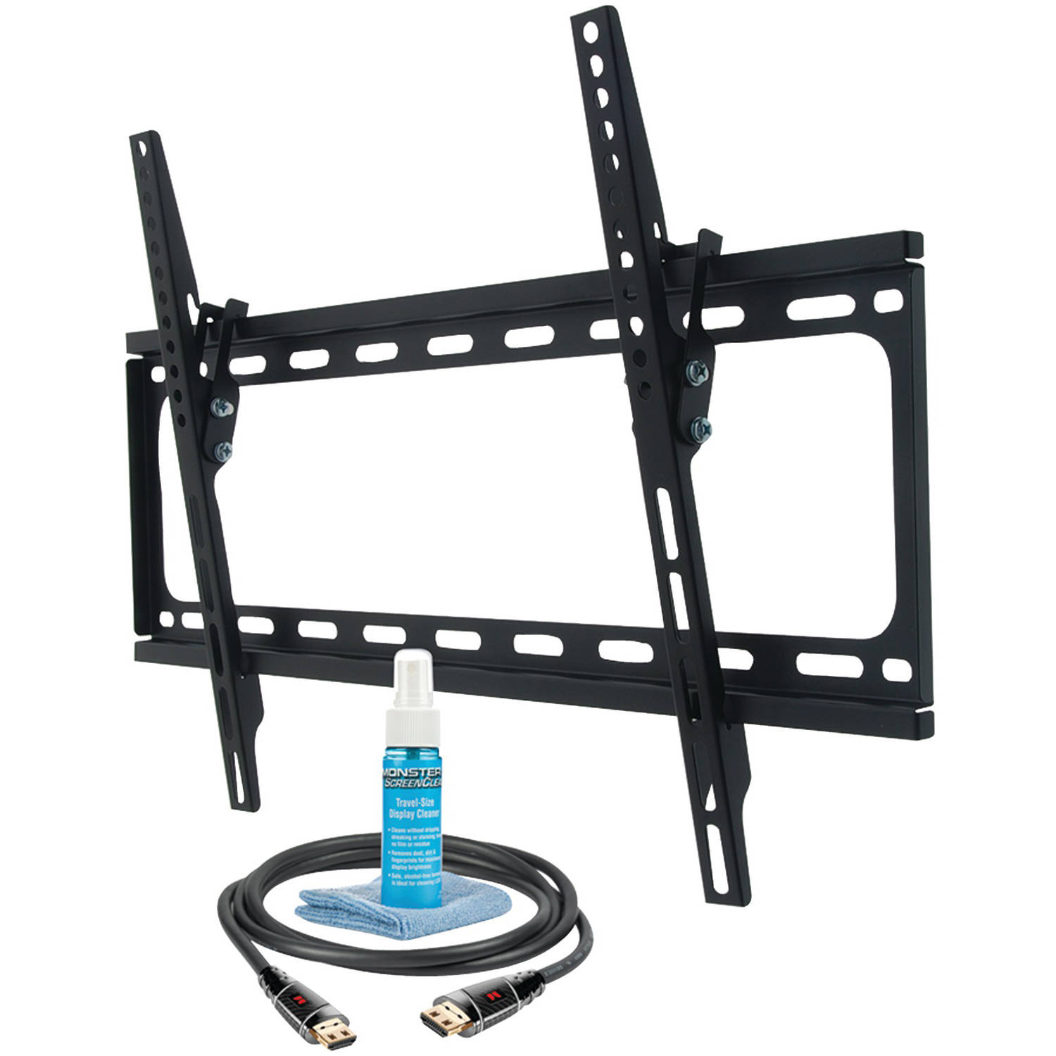 "Monster Mt643 30""-65"" Large Tilt Mount with HDMI Cable and Screen Cleaner"