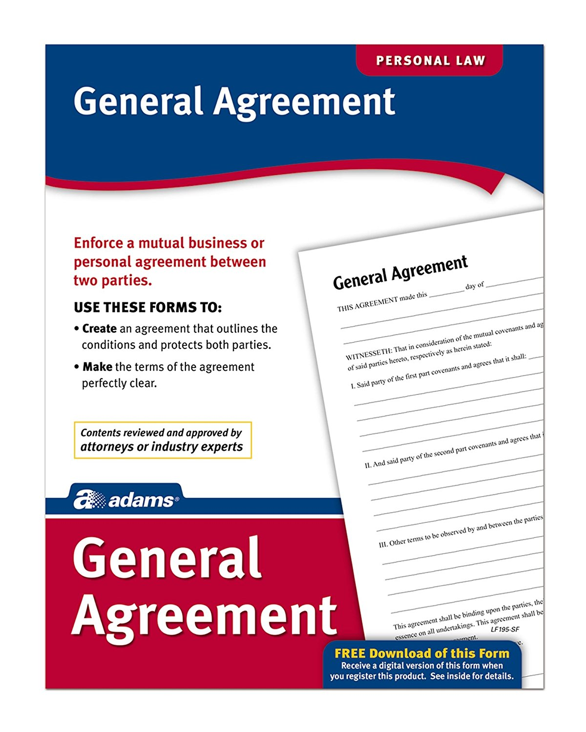 General Agreement, Forms And Instructions (LF195), Enforce A Mutual  Business Or Personal