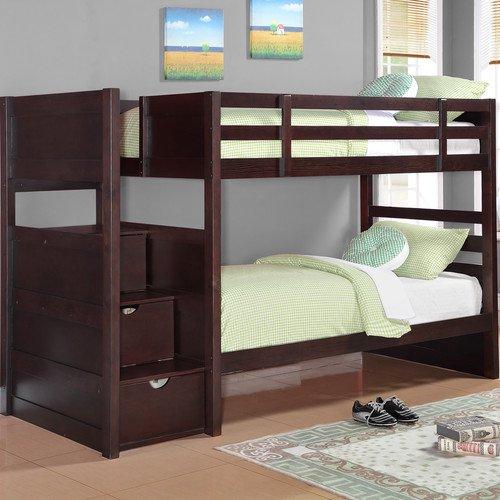Wildon Home Ryan Twin Over Twin Bunk Bed