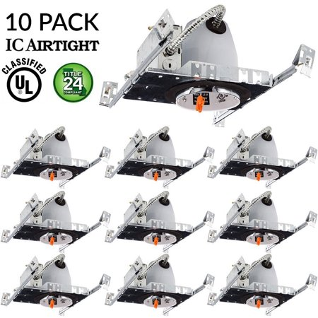 Sunco lighting 10 pack 4 new construction led can air tight ic sunco lighting 10 pack 4 new construction led can air tight ic housing led recessed aloadofball Gallery
