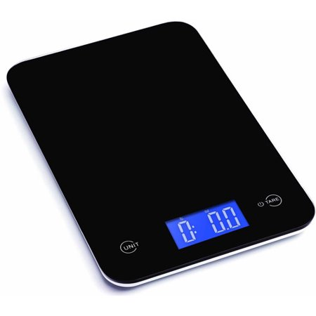 Ozeri Touch Professional Digital Kitchen Scale, 18 lb Edition, Tempered Glass in Elegant Black