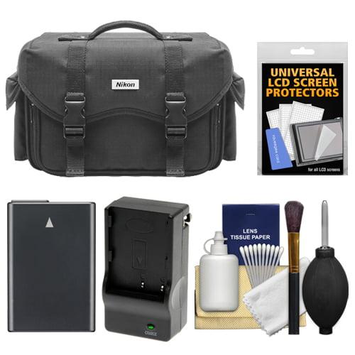 Nikon 5874 Digital SLR Camera Case - Gadget Bag with EN-EL14 Battery + Charger + Accessory Kit for D3300, D3400, D5300, D5500, D5600 DSLR Cameras