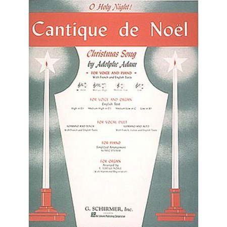 O Holy Night Flute (Cantique de Noel (O Holy Night) : High Voice (E-Flat) and Piano )