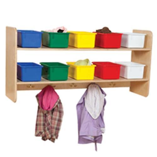 Wood Designs 51403AP Wall Locker & Storage With 10 Assorted Pastel Trays