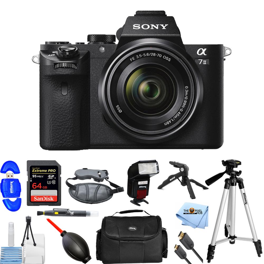 UNASSIGNED Sony Alpha a7 II Mirrorless Digital Camera W/ FE 28-70mm OSS Lens PRO KIT