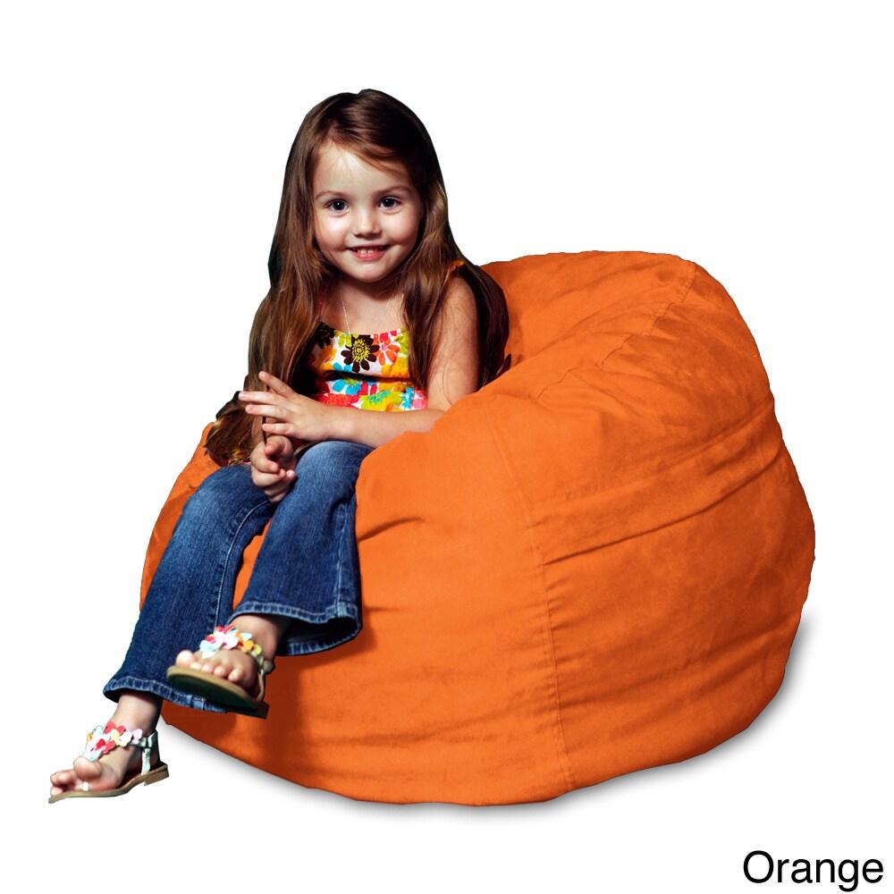 Theater Sacks LLC Memory Foam Micro Suede Kids Beanbag Chair For    Walmart.com