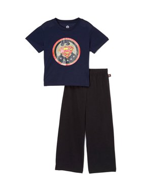 f8f76a7b7f Product Image Superman Boys  Short Sleeve Vintage 2 Piece Pajama Sleep Set