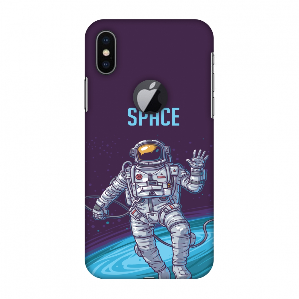 iPhone X Case - I Need My Space, Hard Plastic Back Cover. Slim Profile Cute Printed Designer Snap on Case with Screen Cleaning Kit