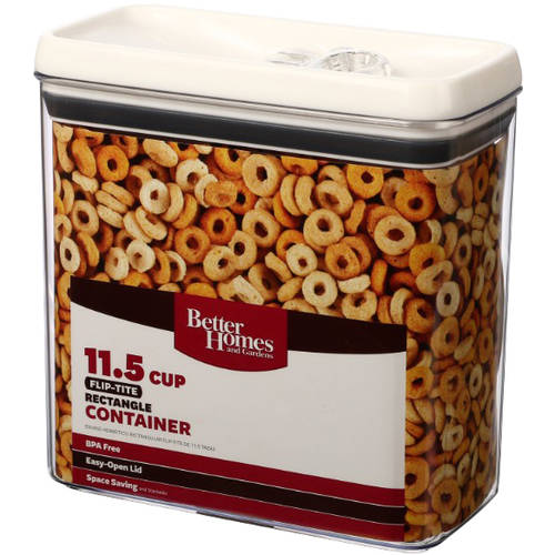 Better Homes and Gardens Flip-Tite 11.5 Cup Rectangle Container