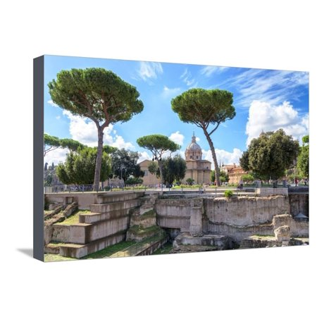 Dolce Vita Rome Collection - Roman Archaeology Columns II Stretched Canvas Print Wall Art By Philippe Hugonnard - Plastic Roman Columns For Sale