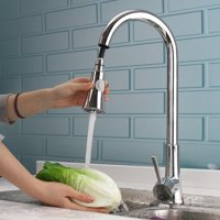 Ktaxon Commercial Stainless Steel Single Handle Pull Down Sprayer Kitchen Faucet, Pull Out Kitchen Faucets Brushed Nickel