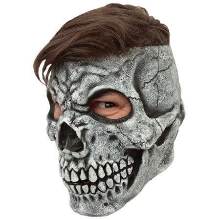 Adult Customizable Hairstyle Skull Mask (Latex Skeleton)