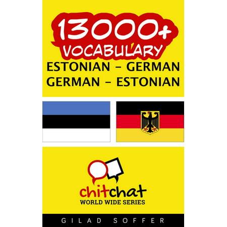 13000+ Vocabulary Estonian - German - eBook ()